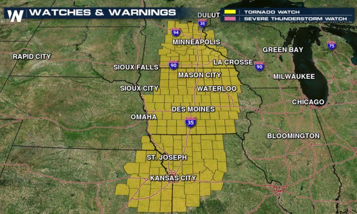 Severe Weather in the Plains into Tonight