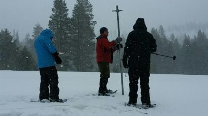 Sierra Snowpack Stays Above Average
