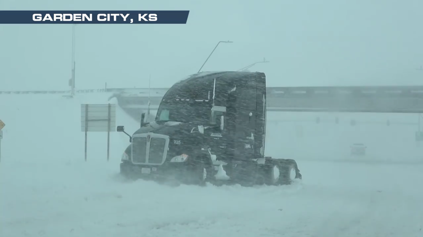 Kansas State Emergency Operations Center Opens in Wake of Snowstorm
