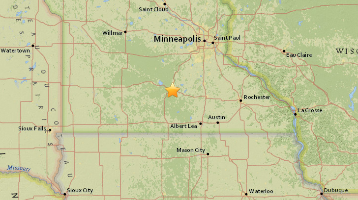 Minor Minnesota Earthquake