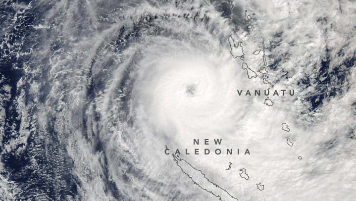 Cyclone Donna Rocks the South Pacific