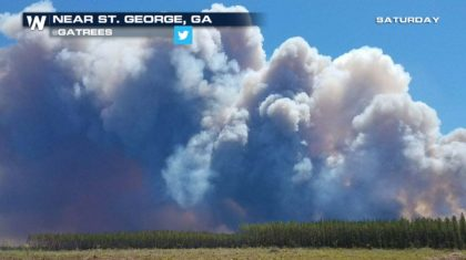 Wildfire Forces Georgia Town Evacuation