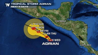 Tropical Storm Adrian Becomes Earliest Tropical Storm on Record For Eastern Pacific
