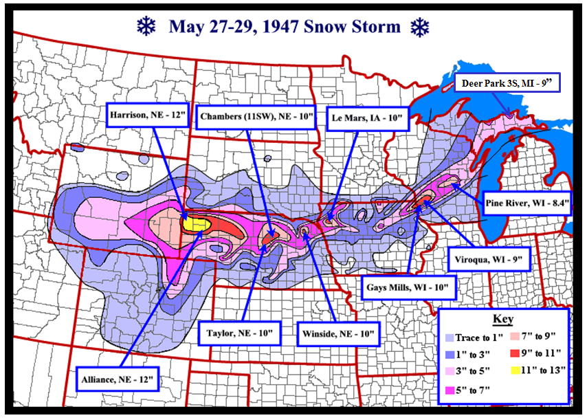 The Nearly Forgotten Snow Storm of May 27-29, 1947