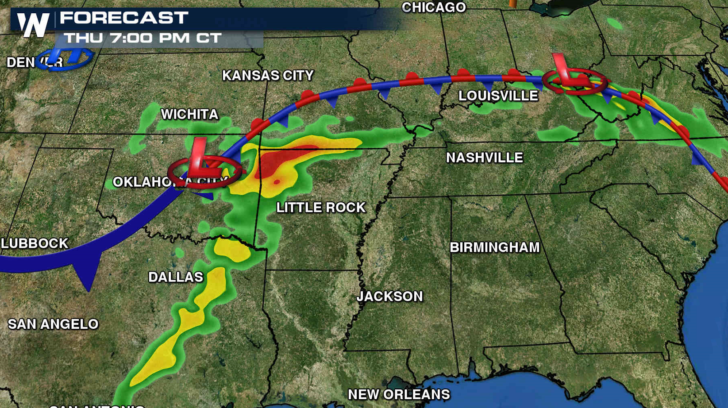 Stationary Front On A Weather Map.Severe Weather To Affect The Plains Today Weathernation