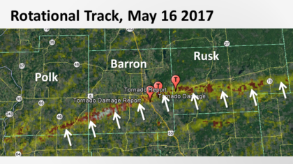New Tornado Path Record Set in Wisconsin