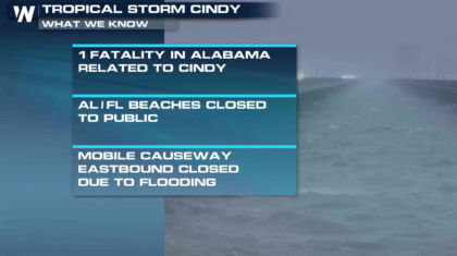 Flooding Threat Continues from Cindy
