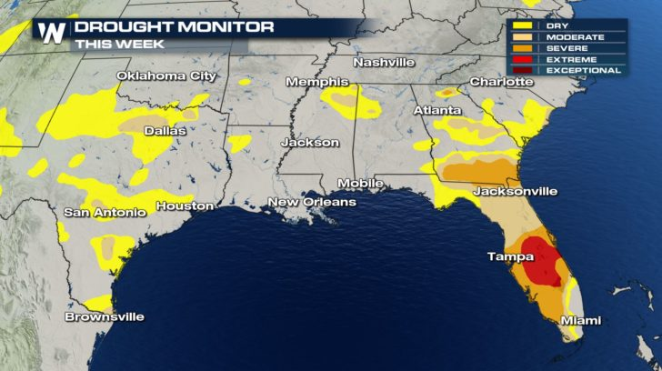 Drought Monitor For The 1st Week Of June Across The Southeast