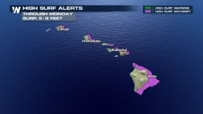 High Surf Alerts in Effect Across Hawaii as Fernanda Approaches