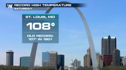 Record Temperatures Observed Saturday