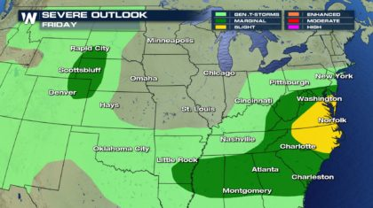 Where Severe Weather Will be The Next Few Days