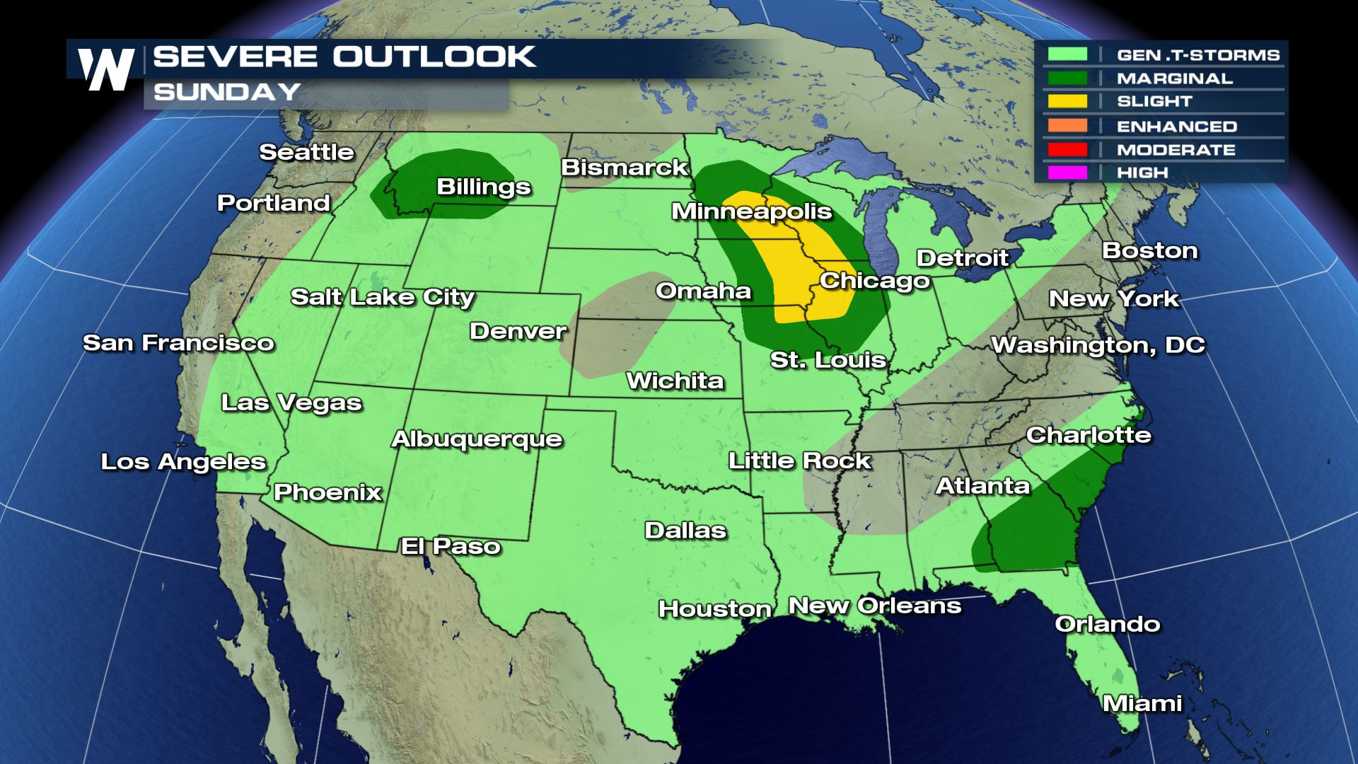severe weather targets high plains and midwestern u s sunday weathernation