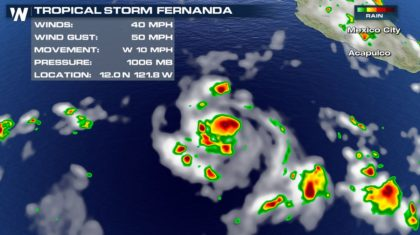 Tropical Storm Fernanda Forms in the Pacific