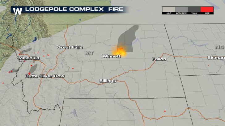 Lodgepole Complex Fire Map Lodgepole Complex Fire Now Largest Burning Wildfire in U.S.