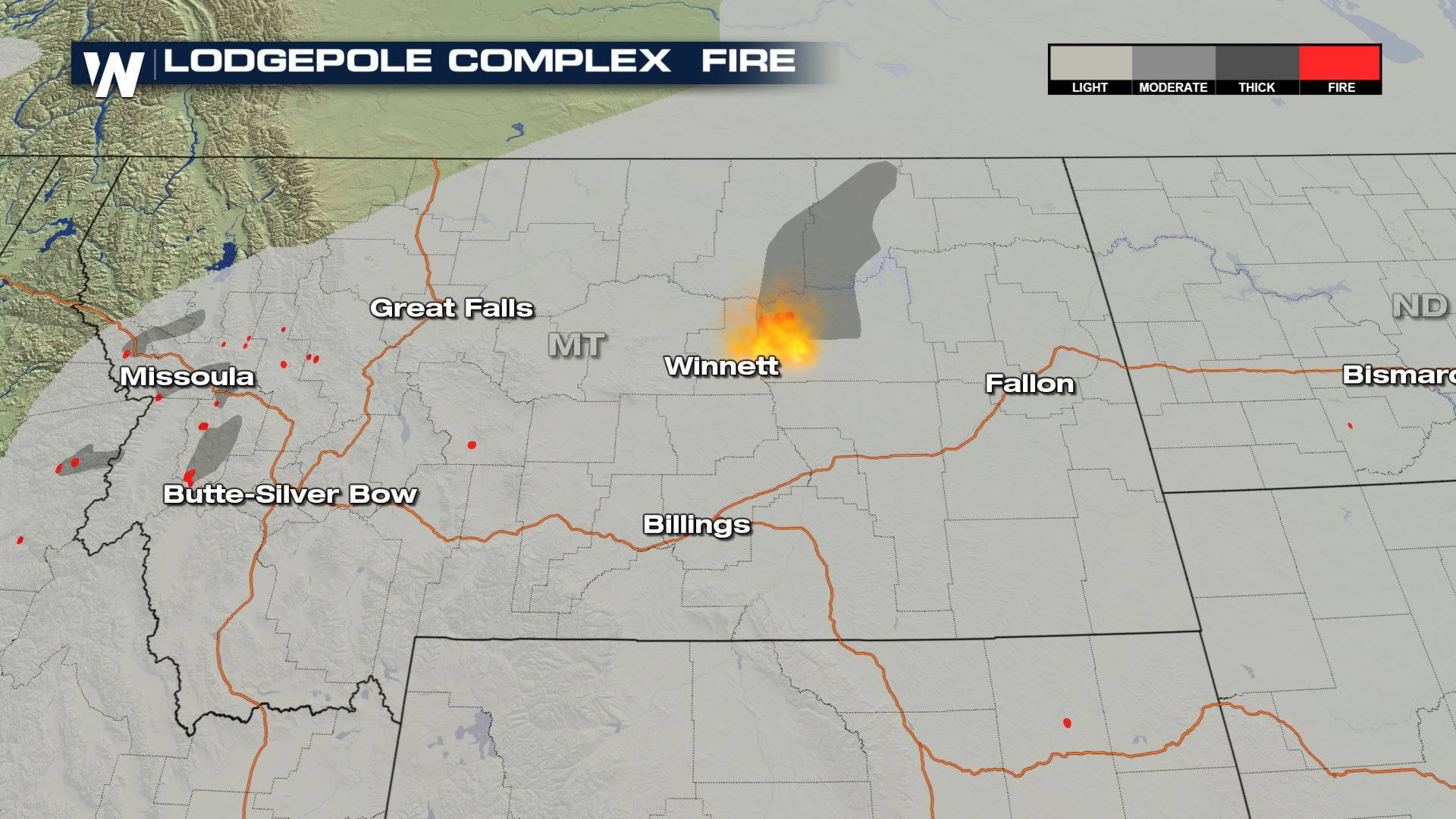 Lodgepole Complex Fire Map Lodgepole Complex Fire Burns in Central Montana   WeatherNation