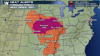 Excessive Heat from the Plains to the Northeast