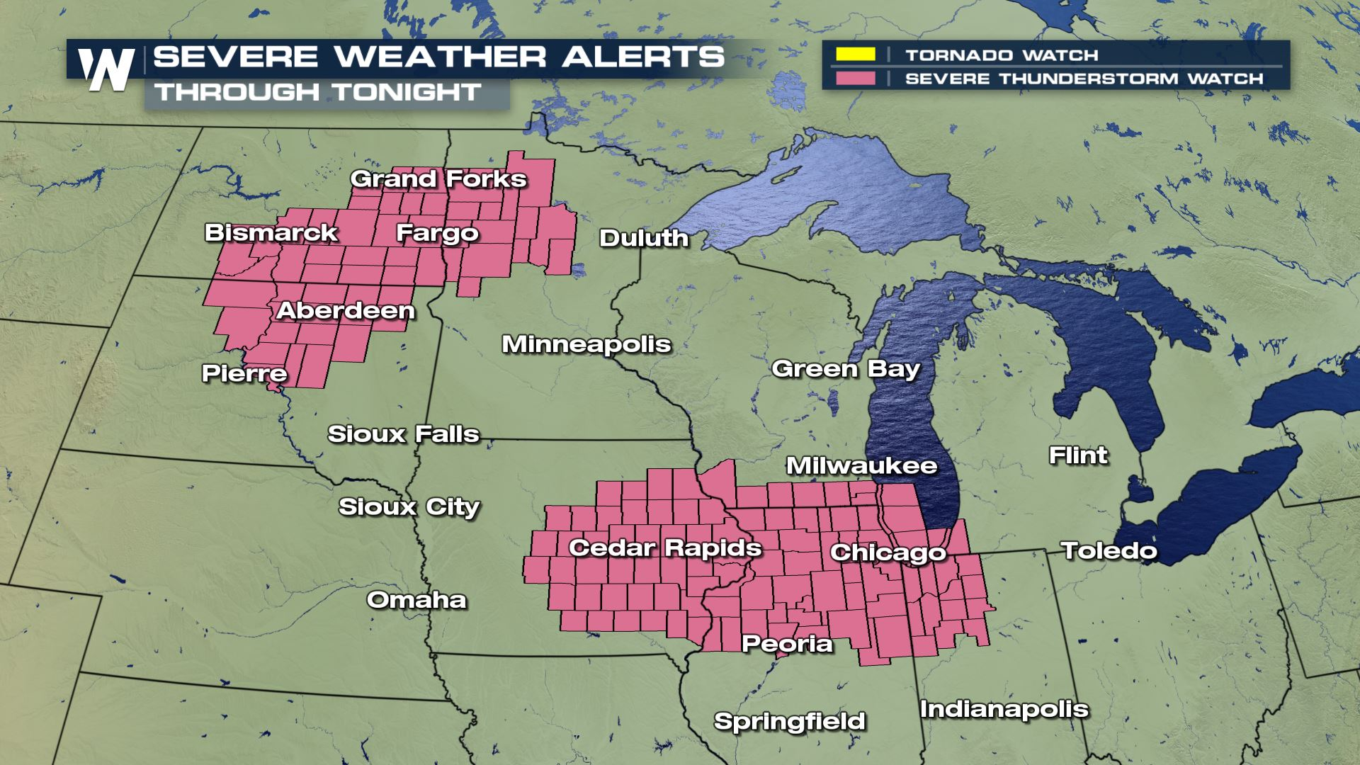 Watch for Severe Weather in the Upper Midwest Tonight