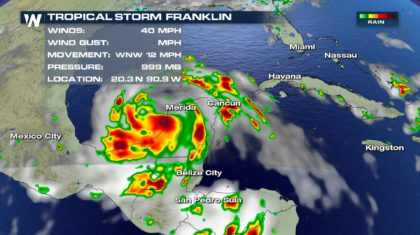 Tropical Storm Franklin Update