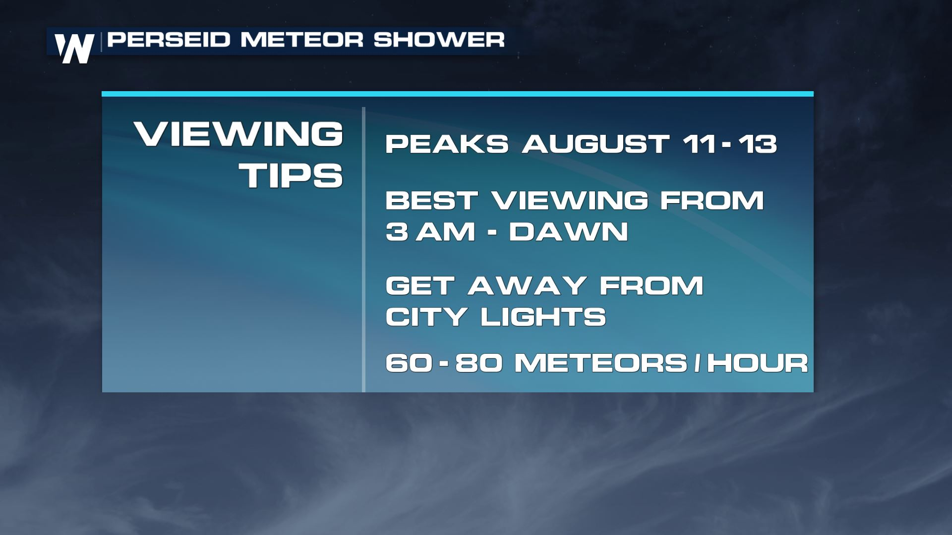 Look up: Perseid Meteor Shower Peaking Next Few Days