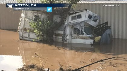 Flash Flooding Leads to Water Rescue in California