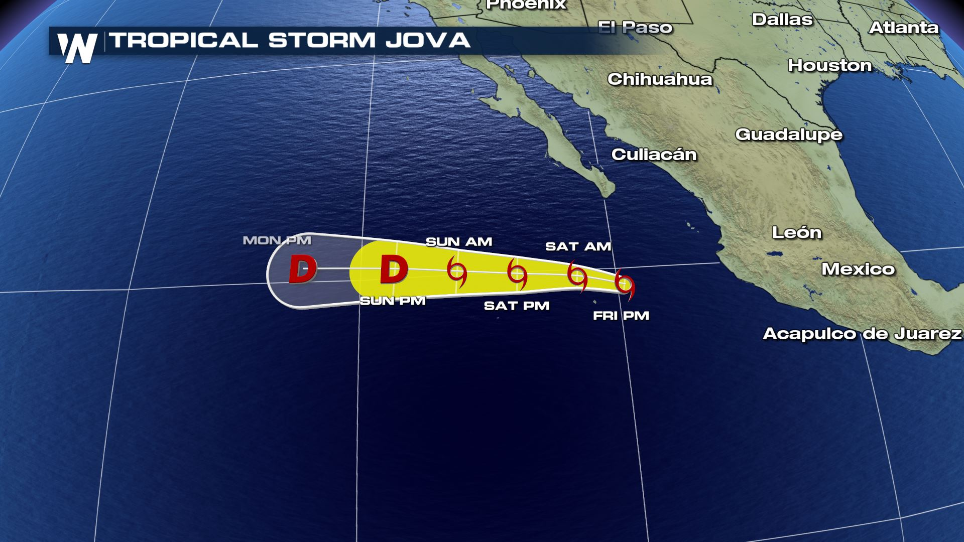 Tropical Storm Jova Forms