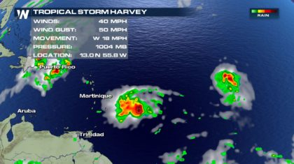Tropical Storm Harvey Forms