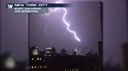 VIDEO: Lightning Lights up NYC Skyline, Strikes Freedom Tower