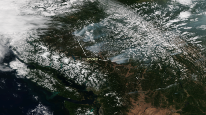 Wildfires Continue to Burn in British Columbia