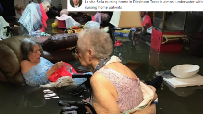 Elderly People Rescued from Floodwater in Texas Nursing Home