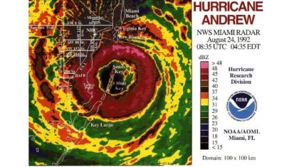 25th Anniversary of Hurricane Andrew Striking Florida
