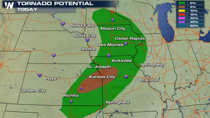 Severe Weather Risk in the Plains Today - WeatherNation