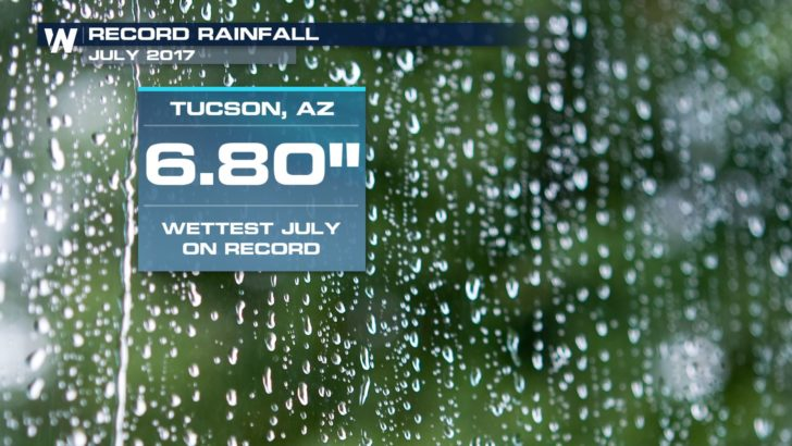 Tucson Sees Wettest Month in 62 Years