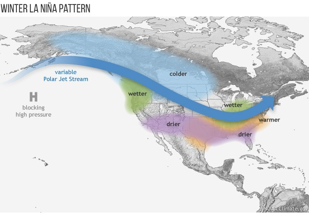 How El Nino And La Nina Affect The Winter Jet Stream And Us - Current-us-jetstream-map