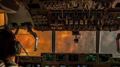 National Guard Gives Cockpit View of Aerial Firefighting in California