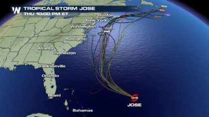 Update on Jose: Impacts Along The East