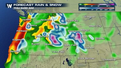 Heavy Rain, Snow To Bring Relief To Scorched Northwest