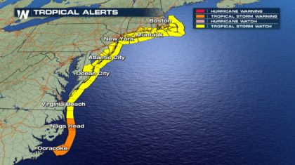 Hurricane Jose Prompts Tropical Storm Watches Along East Coast