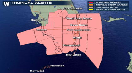 Hurricane Watches Issued in Florida Ahead of Irma