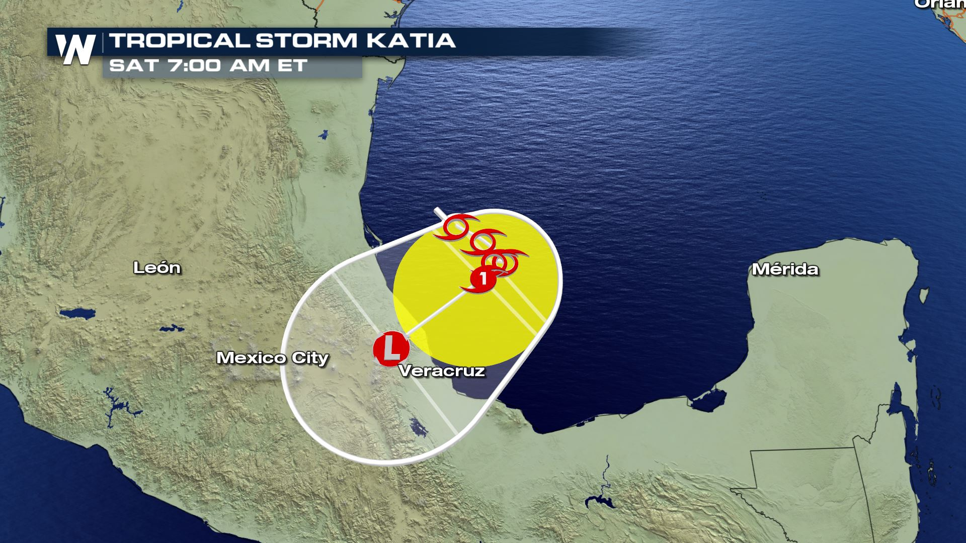 Tropical Storm Katia Forms in the Gulf of Mexico