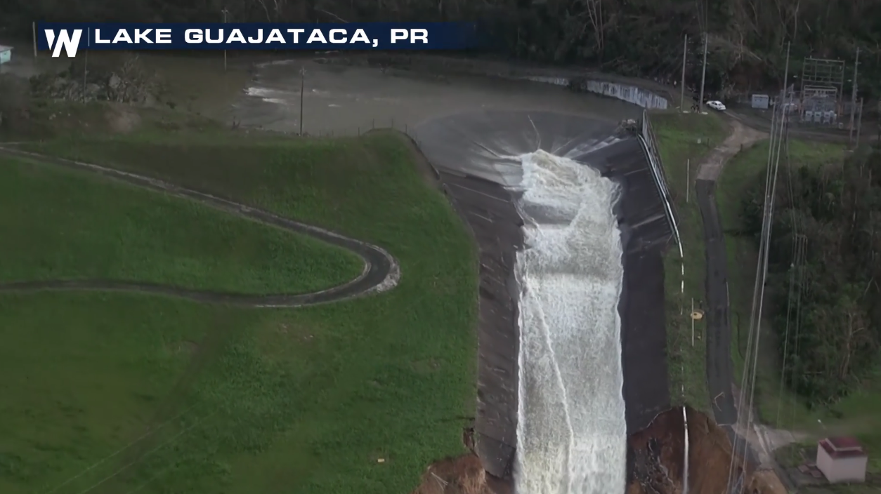 Guajataca Dam Fails in Puerto Rico After Hurricane Maria