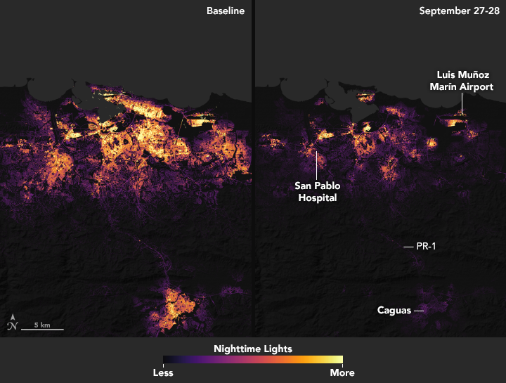Scientists Use Satellite Data to Assist Puerto Rico First Responders
