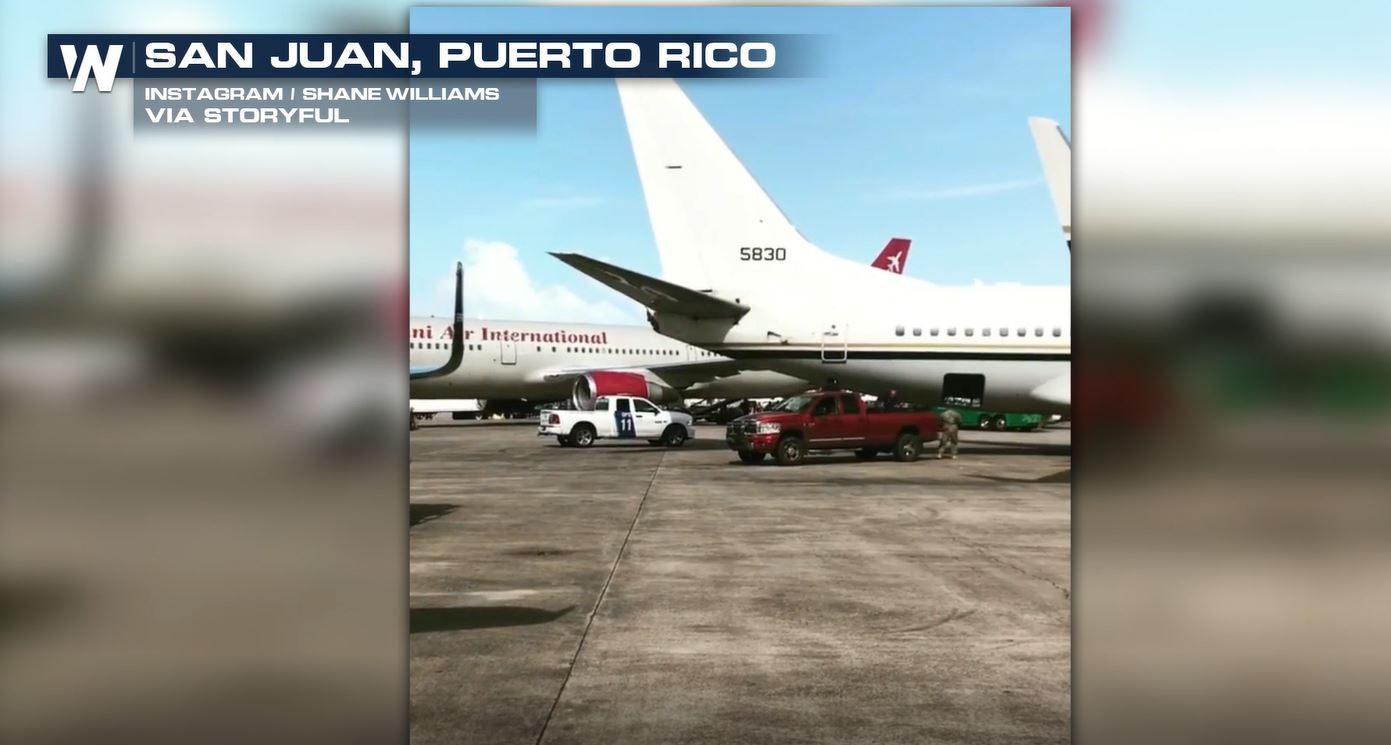 San Juan Airport Busy With Planes Carrying Maria Relief Supplies