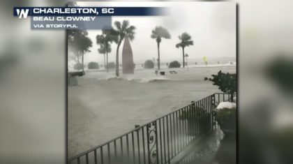 Storm Surge from Tropical Storm Irma Floods Downtown Charleston, SC