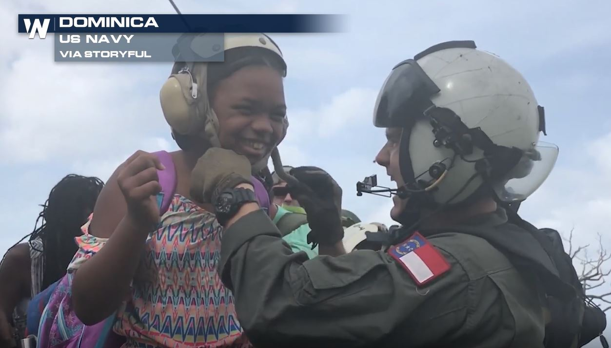 US Soldiers Aid Dominica Evacuees After Hurricane Maria