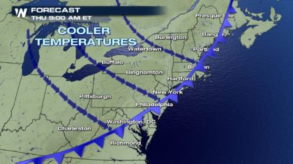 Cooling Trend For The Northeast Thursday And Friday