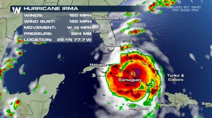 Irma Back to a Category 5, Makes Landfall On Cuba