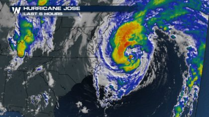Jose Brings Flooding to North Carolina Coast