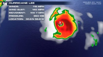 Lee Strengthens to a Category 3 Hurricane