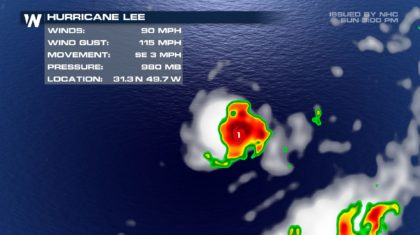 Lee Becomes Hurricane; No Threat to Land
