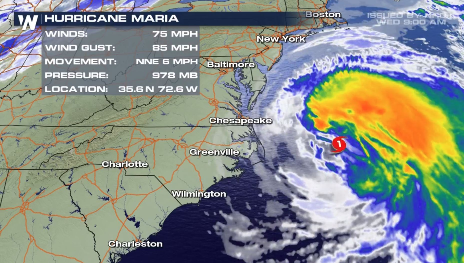 Maria Strengthens to a Category 1 Hurricane... Again